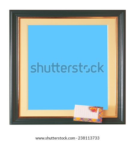 Picture Frame and blanak love letter - stock photo
