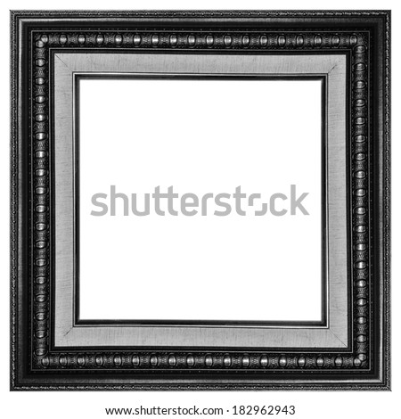 Picture frame colorful wood frame in white background. - stock photo