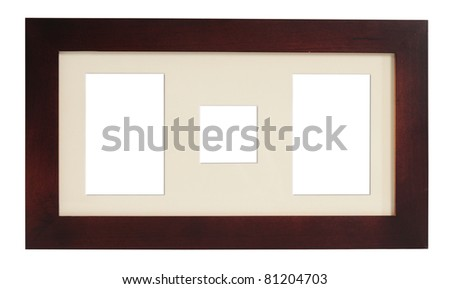 Picture frame. Isolated - stock photo