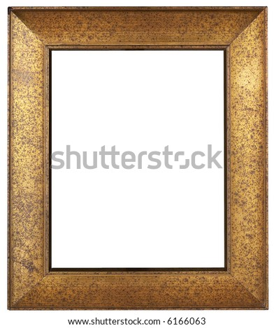 Picture Frame - isolated on white - stock photo