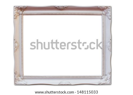 picture frame on isolated background with path - stock photo