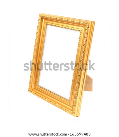 picture frame on the white background - stock photo