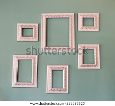 Picture frame , Photo art gallery on vintage wall - stock photo