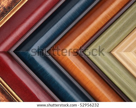 Picture frame samples - stock photo