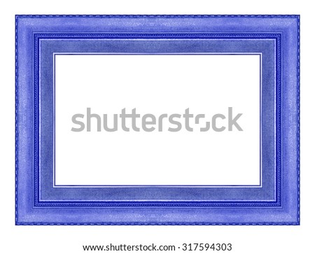 picture frame wooden Carved pattern isolated on a white background. - stock photo