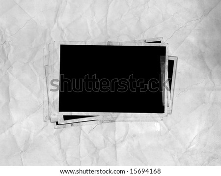 Picture Frames (on paper background) - stock photo