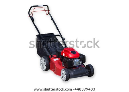 Picture from Lawnmower isolated on white background - stock photo