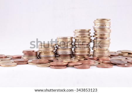 Picture of a Business Money Concept Idea Euro Currency - stock photo