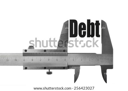 """Picture of a caliper, measuring the word """"Life"""". - stock photo"""