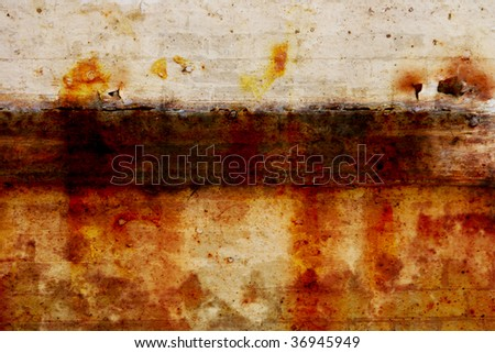 Picture of a Rusty texture Background - stock photo