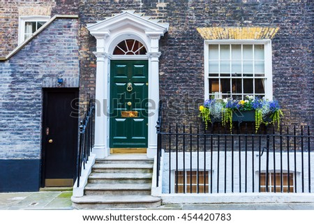 picture of a typical house in Westminster, London, UK - stock photo