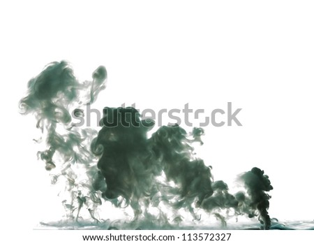 picture of abstract fluid smoke made by milk - stock photo