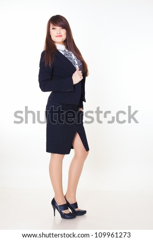 picture of beautiful businesswoman - stock photo