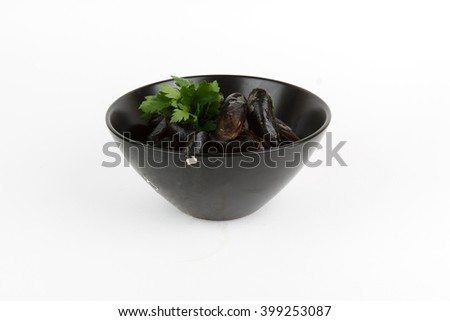 Picture of delicious mussels - stock photo