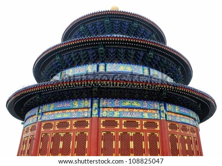 Picture of isolated Temple of Heaven in Beijing,China. - stock photo