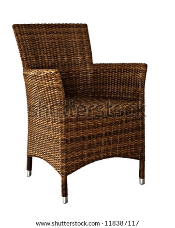 Picture of rattan Wicker Chair - stock photo