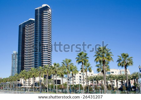Picture of San Diego Bay in the Summer. - stock photo