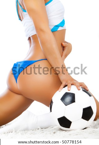 Picture of sexy back and ball - stock photo