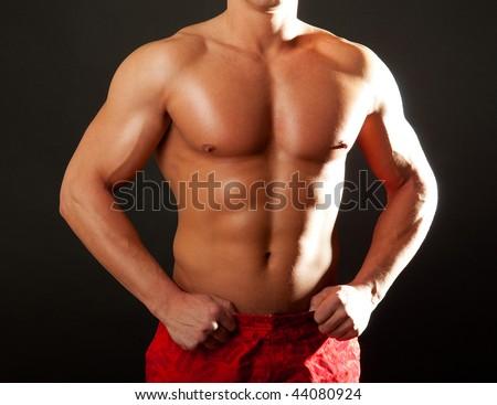 Picture of sexy torso - stock photo