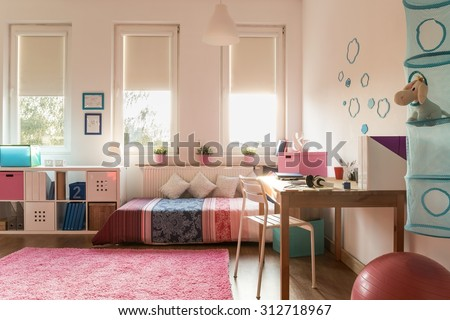 Picture of snug room for teenage girl - stock photo