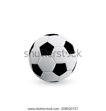 picture of soccer ball on white background - stock photo