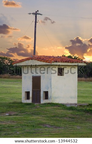 picture of the old shack - stock photo