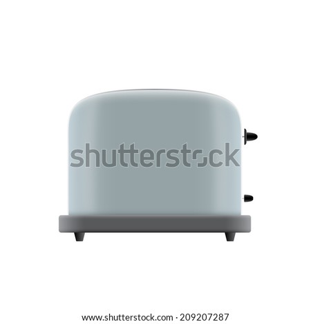 picture of toaster on white background - stock photo