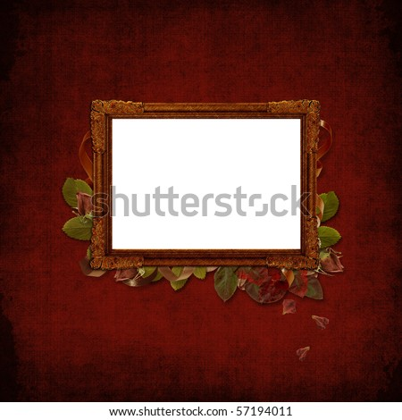 Picture vintage frame on a grunge background - stock photo