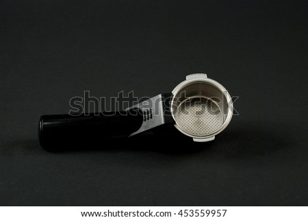pictures of the parts in an expresso coffee maker - stock photo