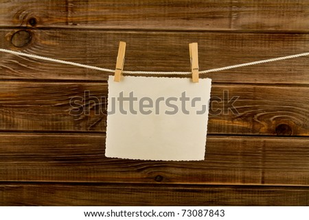 pictures on a wooden background - stock photo