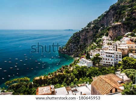 Picturesque Amalfi coast. Positano, Italy - stock photo