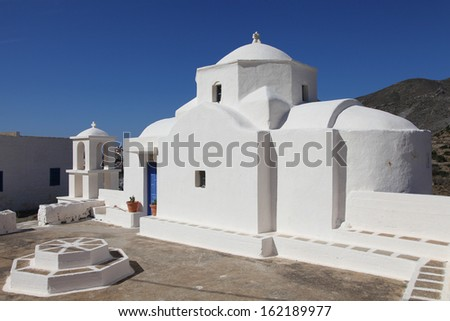 picturesque chapel on the island of Karpathos, Greece - stock photo