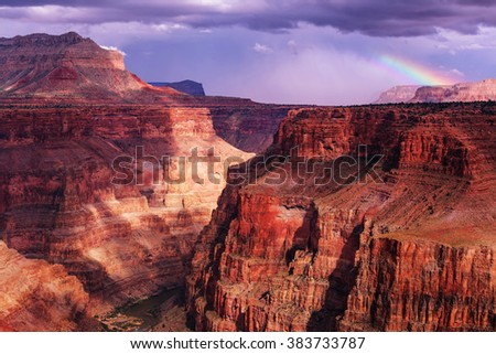 Picturesque landscapes of the Grand Canyon - stock photo