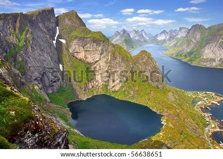 Picturesque Norway landscape - stock photo