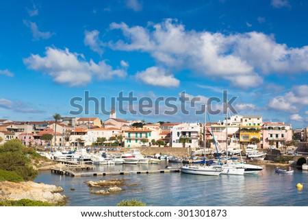 Picturesque old port town of Stintino, Sardinia, Italy. - stock photo