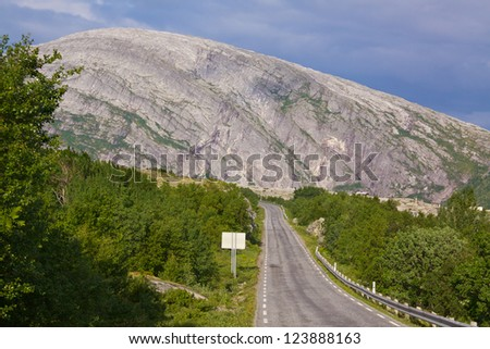 Picturesque scenery on the Norwegian National Tourist Road - stock photo