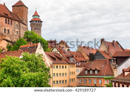Picturesque view of Old Town in Nuremberg, Germany - stock photo
