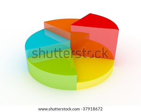 pie chart diagram - stock photo