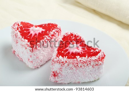 Pie in the form of heart close up - stock photo