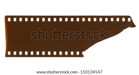 piece of blank grained film strip texture - stock photo