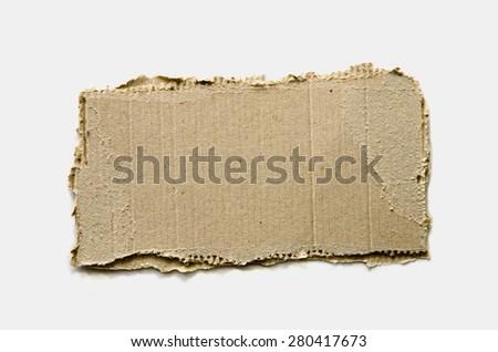 Piece of cardboard - stock photo