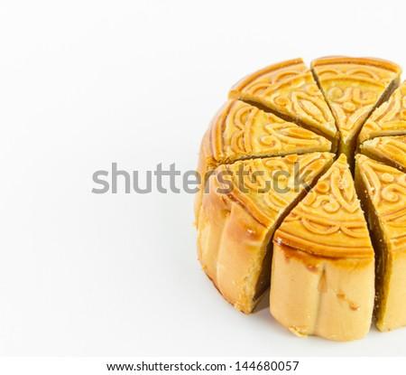 Piece of Mooncake background - stock photo