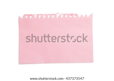 Piece of note paper on white background - stock photo
