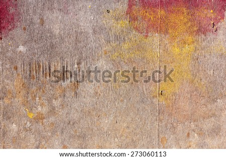 piece of plywood, stained colors, background  - stock photo