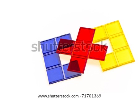 piece of puzzle as business idea - stock photo