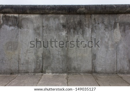 Piece of the Berlin Wall of the East Berlin side - stock photo
