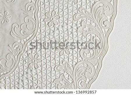 piece of white cloth - stock photo