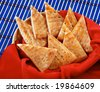 Pieces of greecy bread is a famous food of asian peoples - stock photo