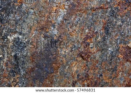 Pieces of iron containing rocks - stock photo
