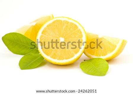 pieces of lemon - stock photo